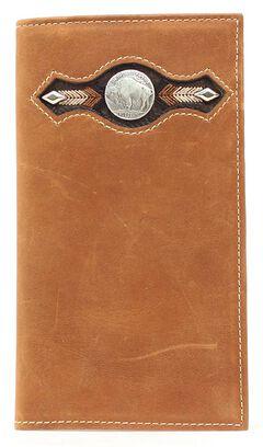 Nocona Buffalo Nickel Concho Rodeo Wallet, , hi-res