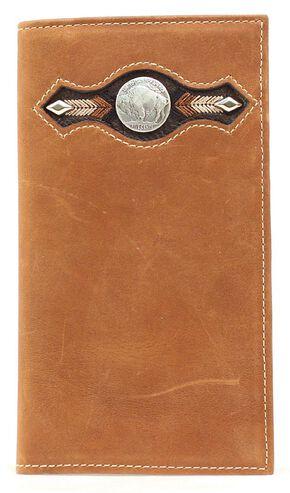 Nocona Buffalo Nickel Concho Rodeo Wallet, Med Brown, hi-res