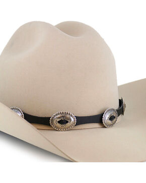 Cody James® Oversized Conchos Hat Band, Black, hi-res