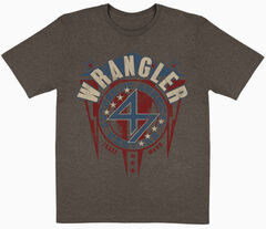 Wrangler Men's Brown Lightening Screen Short Sleeve Shirt , Brown, hi-res
