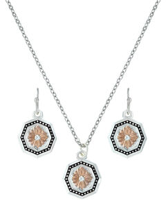 Montana Silversmiths Portrait of a Prairie Daisy Jewelry Set  , , hi-res