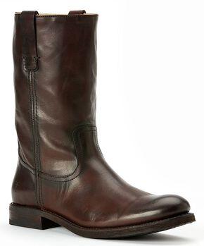 Frye Men's Jonathan Roper Boots - Round Toe, Dark Brown, hi-res
