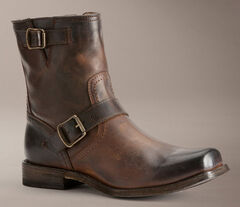 Frye Smith Engineer Boots, Dark Brown, hi-res