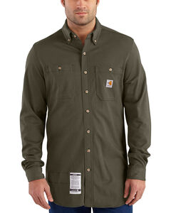Carhartt Men's Moss Flame-Resistant Force Cotton Hybrid Shirt - Big & Tall , , hi-res