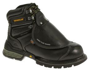 Caterpillar Ergo Flexguard Work Boots - Steel Toe, Black, hi-res