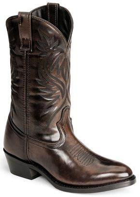 Laredo Western Boots - Med Toe, Antique Tan, hi-res