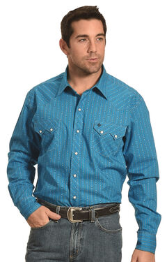 Garth Brooks Sevens by Cinch Blue Stripe Western Shirt , , hi-res