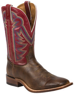 Tony Lama Tan Crush Blaze Americana Cowboy Boots - Square Toe , , hi-res