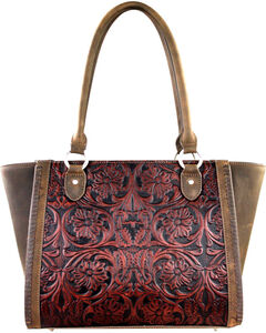 Montana West Coffee Delila 100% Genuine Leather, , hi-res