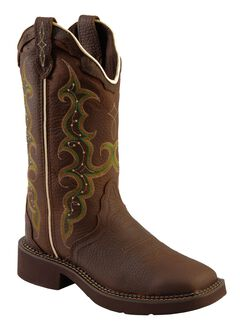 Justin Gypsy Copper Kettle Cow Cowgirl Boots - Square Toe, , hi-res