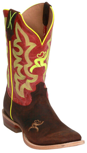 Twisted X Red Hooey Cowboy Boots - Square Toe, Crazyhorse, hi-res