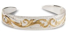 Montana Silversmiths Tapered Scroll Cuff Bracelet, , hi-res