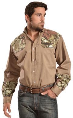 Gibson Trading Co. Men's Khaki Camo Shooter Shirt, , hi-res