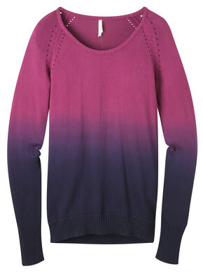 Mountain Khakis Women's Hollyhock Darby Dip Dyed Sweater, Fuchsia, hi-res