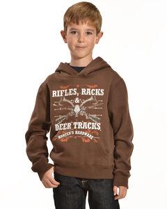 """Cowboy Hardware """"Rifles, Racks, and Deer Tracks"""" Hooded Sweatshirt, , hi-res"""