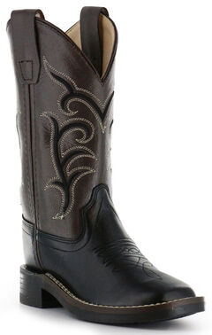 Cody James Boys' Black Western Boots - Square Toe, , hi-res