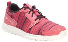 Ariat Girls' Fuse Pink Serape Mesh Shoes, , hi-res