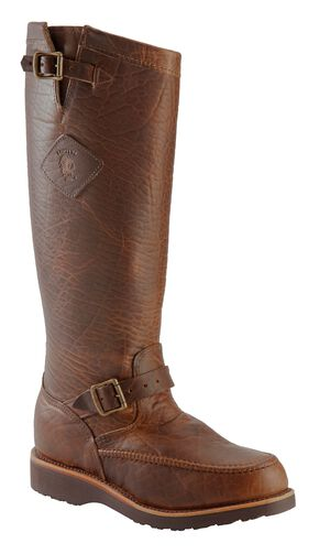 Chippewa Iowa American Bison Snake Boots - Mocc Toe, Tan, hi-res