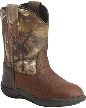 Old West Toddler Boys' Realtree Camo Boots, Rust, hi-res