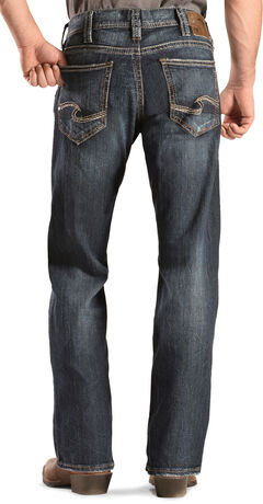 Silver Men's Zac Dark Wash Jeans - Relaxed Fit , , hi-res