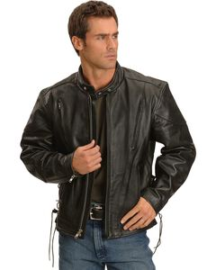 Interstate Leather Touring Motorcycle Leather Jacket, , hi-res