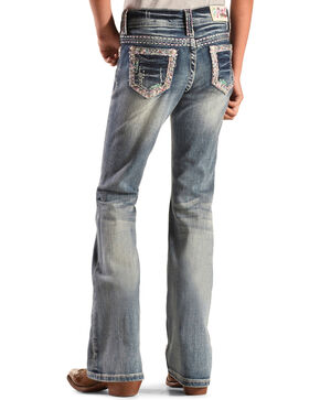 Grace in LA Girls' Embroidered Glitzy Jeans - Bootcut, Denim, hi-res