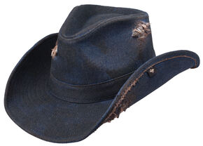 Peter Grimm Denim Cowboy Hat, Navy, hi-res