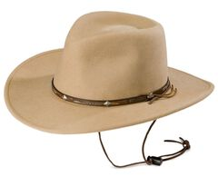 Stetson Mountain View Crushable Wool Cowboy Hat, , hi-res