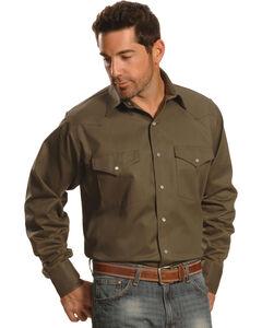 Crazy Cowboy Men's Hunter Green Western Work Shirt - Big & Tall, , hi-res