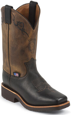 Chippewa Women's Black Odessa Western Work Boots - Square Toe, , hi-res