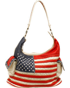 Blazin Roxx Women's Gun Toting American Bucket Bag, , hi-res