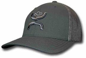 HOOey Men's Chi Grey Snapback Trucker Hat , Grey, hi-res