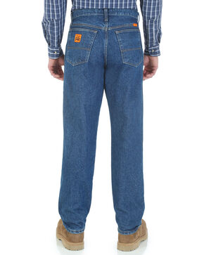 Wrangler Men's Flame Resistant Relaxed Fit Jeans , Indigo, hi-res