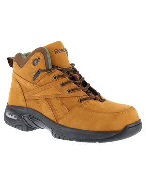 Reebok Men's Tyak High Performance Hiker Work Boots - Composition Toe, Tan, hi-res