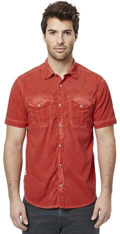 Buffalo Men's Red Sakud Short Sleeve Shirt , , hi-res
