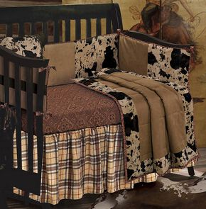 Cowhide Crib Set, Multi, hi-res