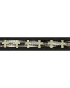 Rhinestone Cross Concho Hatband, , hi-res