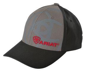 Ariat Shadow Logo Cap, Black, hi-res