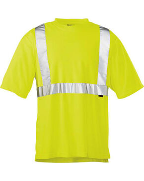 Wolverine Men's Yellow Caution Short Sleeve Tee , Yellow, hi-res