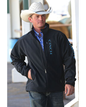Cinch Men's Black Bonded Logo Jacket, Black, hi-res