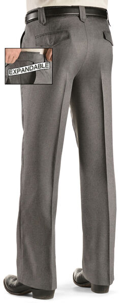 Circle S Men's Lubbock Xpand Pants - Big, Hthr Grey, hi-res