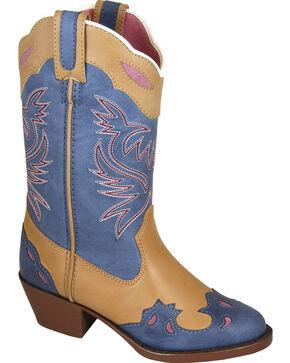 Smoky Mountain Youth Girls' Lila Western Boots - Medium Toe , Tan, hi-res