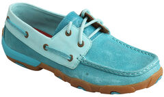 Twisted X Women's Ocean Blue Driving Mocs , , hi-res