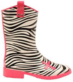 Blazin Roxx Jane Zebra Cross Rain Boots - Square Toe , , hi-res