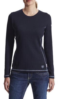 Ariat Women's Flame Resistant Navy Long Sleeve Polartec Top, , hi-res