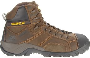 "Caterpillar 6"" Argon Waterproof Lace-Up Work Shoes - Composition Toe, Dark Brown, hi-res"