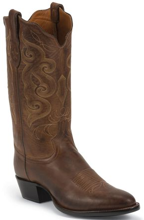 Tony Lama Signature Series Rista Calf Cowboy Boots - Round Toe, Tan, hi-res