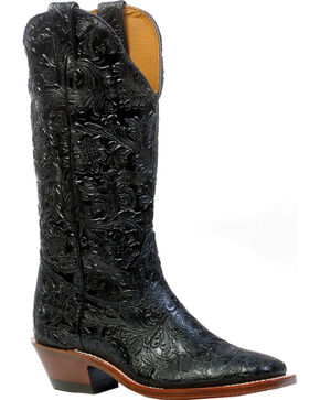 Boulet Dankan Black Cowgirl Boots - Square Toe, Black, hi-res