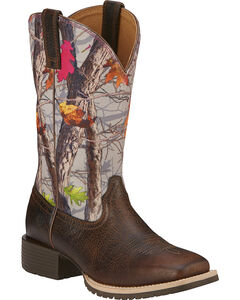 Ariat Hybrid Rancher Cowgirl Boots - Wide Square Toe, , hi-res