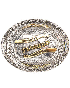 AndWest Florida Regional Motif Belt Buckle, Two Tone, hi-res